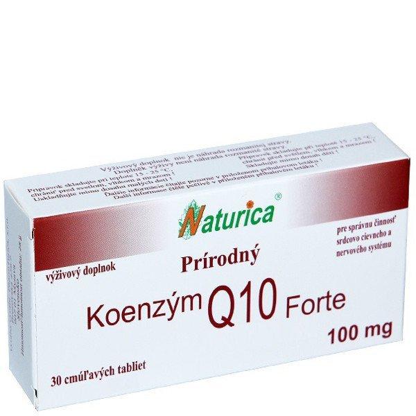 Naturica Prírodný KOENZÝM Q10 Forte 100 mg - Naturica Prírodný Koenzym Q10 Forte 100 mg 30 tabliet