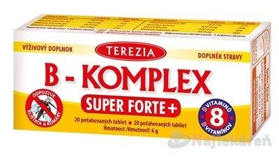 TEREZIA B-KOMPLEX SUPER FORTE+ - Terezia B-KOMPLEX super forte+ 20 tabliet
