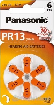 Panasonic baterie do naslouchadel 6ks PR13(PR48)