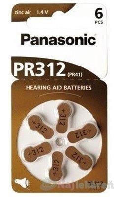 Panasonic baterie do naslouchadel 6ks PR312(PR41)
