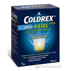 COLDREX Grip plus KAŠEĽ príchuť citrón a mentol