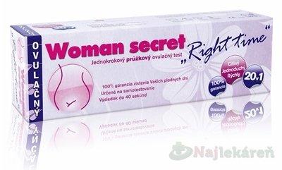 Woman secret RIGHT TIME ovulačný test 1x20ks - Woman Secret Right Time ovulačný test 20 ks