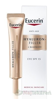 Eucerin HYALURON-FILLER+ELASTICITY očný krém - Eucerin Hyaluron-Filler+ Elasticity očný krém SPF 15 15 ml