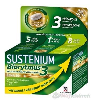 SUSTENIUM Biorytmus 3 multivitamín ŽENA 60+