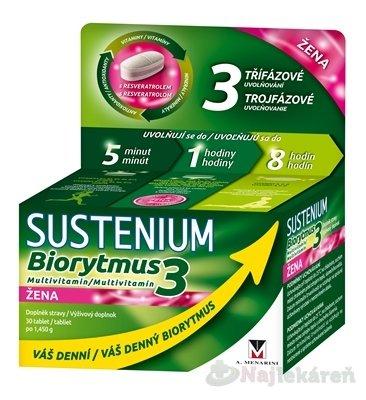 SUSTENIUM Biorytmus 3 multivitamín ŽENA - Sustenium Biorytmus 3 multivitamin ŽENA tbl. 30