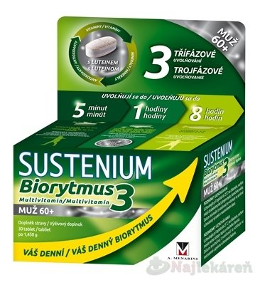 SUSTENIUM Biorytmus 3 multivitamín MUŽ 60+