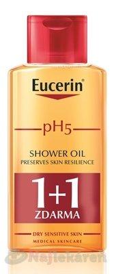 Eucerin pH5 Sprchový olej - Eucerin pH5 relipidačný sprchový olej pre citlivú pokožku 2 x 200 ml darčeková sada
