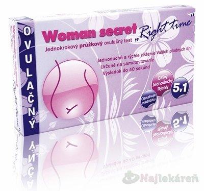 Woman Secret Right Time ovulačný test prúžkový 5 v 1