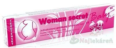 Woman secret BABY tehotenský test