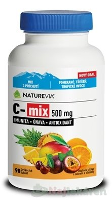 SWISS NATUREVIA C-mix 500 mg - Swiss NatureVia C-MIX 500mg tbl.90