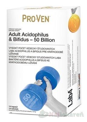 PRO-VEN Adult Acidophilus & Bifidus - 50 Billion - Pro-Ven Adult Acidophilus & Bifidus 50 Billion 14 kapsúl