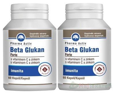 Pharma Activ BETA GLUKAN Forte AKCIA - Pharma Activ Beta Glukán Forte + vitamín C a zinok 60 kapsúl