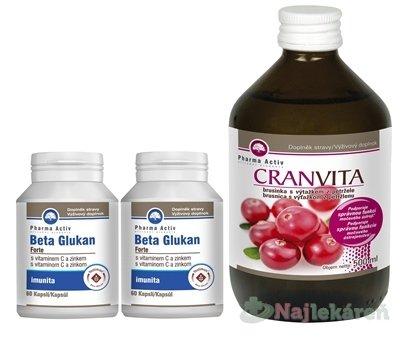 Pharma Activ BETA GLUKAN Forte AKCIA - Pharma Activ Beta Glukán Forte 1 + 1 60 tabliet + Cranvita 500 ml