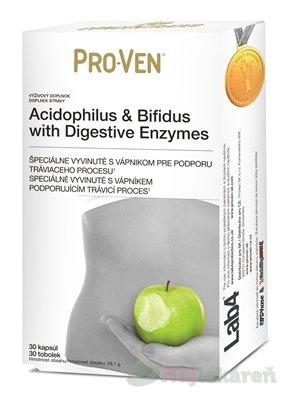 PRO-VEN Acidophilus & Bifidus - Pro-Ven Acidophilus & Bifidus with Digestive Enzymes 30 kapsúl