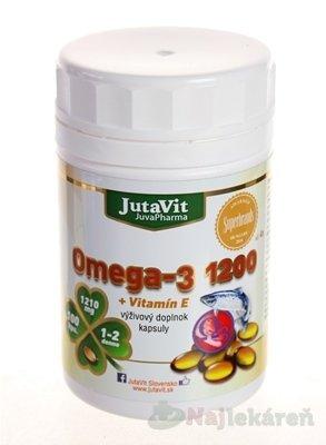 JutaVit Omega-3 1200 + vitamín E, 100 ks - JutaVit Omega-3 1200 + vitamín E 100 kapsúl