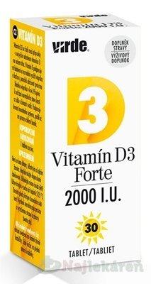VIRDE Vitamín D3 Forte 2000 I.U. - Virde Vitamín D3 Forte 2000 I.U. tbl 30