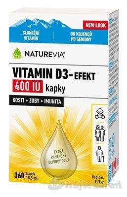 SWISS NATUREVIA VITAMÍN D3-EFEKT 10,8 ml - Swiss Naturvia Vitamín D3-EFEKT 400 I.U. kvapky 10,8 ml