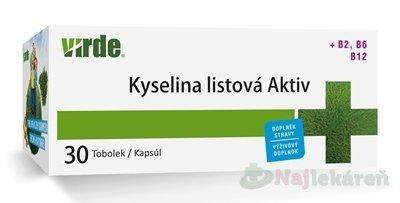 VIRDE KYSELINA LISTOVÁ AKTIV - Virde Kyselina listová Aktiv 30 tabliet