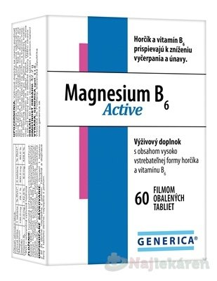 GENERICA Magnesium B6 Active, 60 ks - Generica SanguiFlow 30 tabliet