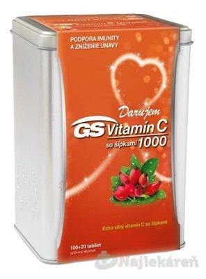 GS Vitamín C 1000 so šípkami darček 2019 - GS Vitamín C 1000 so šípkami 120 kapsúl