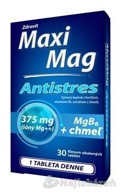 Zdrovit MaxiMag ANTISTRES Mg 375 mg+ B6 - Zdrovit MaxiMag Antistres 30 tbl