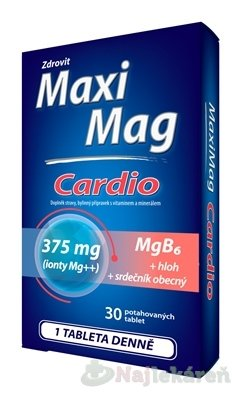 Zdrovit MaxiMag CARDIO Mg 375 mg + B6 - Zdrovit MaxiMag Cardio 30 tbl