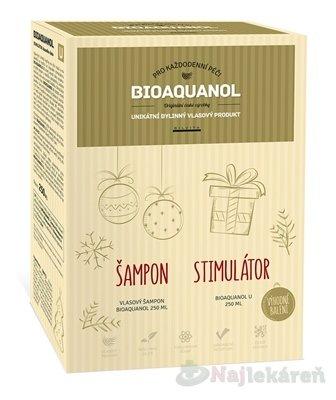 Bioaquanol vlasový šampón 250 ml + stimulátor U 250 ml darčeková sada