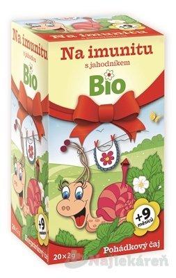 APOTHEKE ROZPRÁVKA bylinný čaj Na imunitu s jahodou Bio, 20x2 g