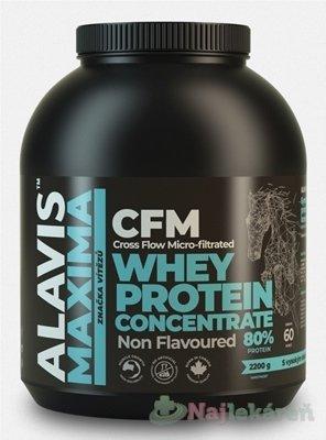 ALAVIS MAXIMA Srvátkový proteínový koncentrát 80%, 2200 g - Alavis Maxima CFM Whey Protein Concentrate 2200 g