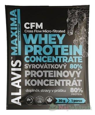 ALAVIS MAXIMA Srvátkový proteínový koncentrát 80%, 30 g - Alavis Maxima CFM Whey Protein Concentrate 30 g