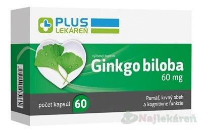 PLUS LEKÁREŇ Ginkgo biloba 60 mg 1x60 ks
