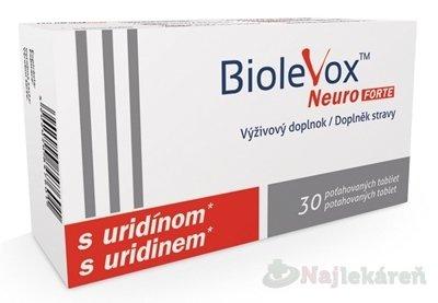 BIOLEVOX Neuro FORTE s kyselinou listovou a vitamínom B, 30tbl
