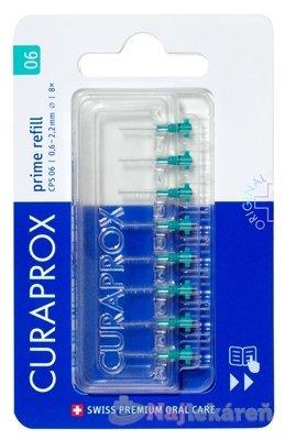 CURAPROX CPS 06 prime refill tyrkysová - Curaprox CPS 06 Prime Refill medzizubné kefky bez držiaka 8 ks