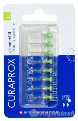 CURAPROX CPS 011 prime refill svetlozelená - Curaprox CPS 011 Prime Refill medzizubné kefky bez držiaka 8 ks
