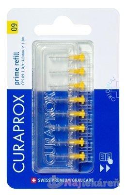 CURAPROX CPS 09 prime refill žltá - Curaprox CPS 09 Prime Refill medzizubné kefky bez držiaka 8 ks