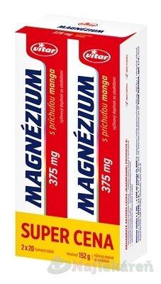 VITAR MAGNÉZIUM 375 mg DUOPACK