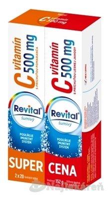 Revital vitamín C 500 mg šumivý DUOPACK