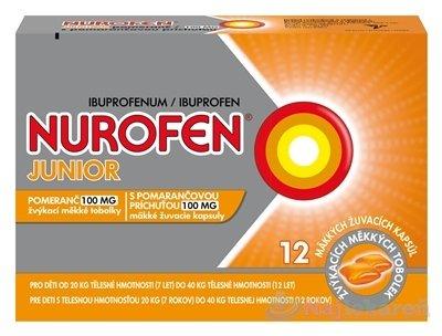 Nurofen Junior s pomarančovou príchuťou 100mg cps.mdl.12 x 100mg