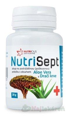 NUTRICIUS NutriSept Zásyp na podráždenú pokožku 20g - NutriSept zásyp na podrážděnou pokožku 20 g