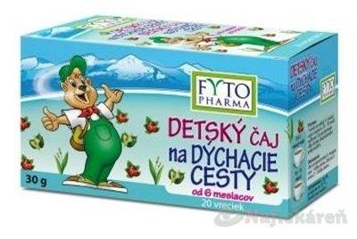 FYTO DETSKÝ bylinný ČAJ na DÝCHACIE CESTY 20x1,5 g