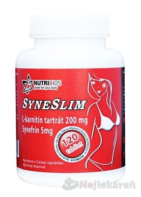 SYNESLIM synefrín + L-karnitín - Nutricius Syneslim synefrin + karnitin 120 tabliet