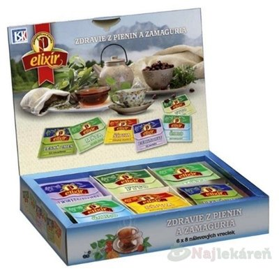 AGROKARPATY kazeta bylinných čajov ZDRAVIE Z PIENIN A ZAMAGURIA 48 ks - AGROKARPATY ZDRAVIE Z PIENIN A ZAMAGURIA čajová kazeta 48 x 2 g