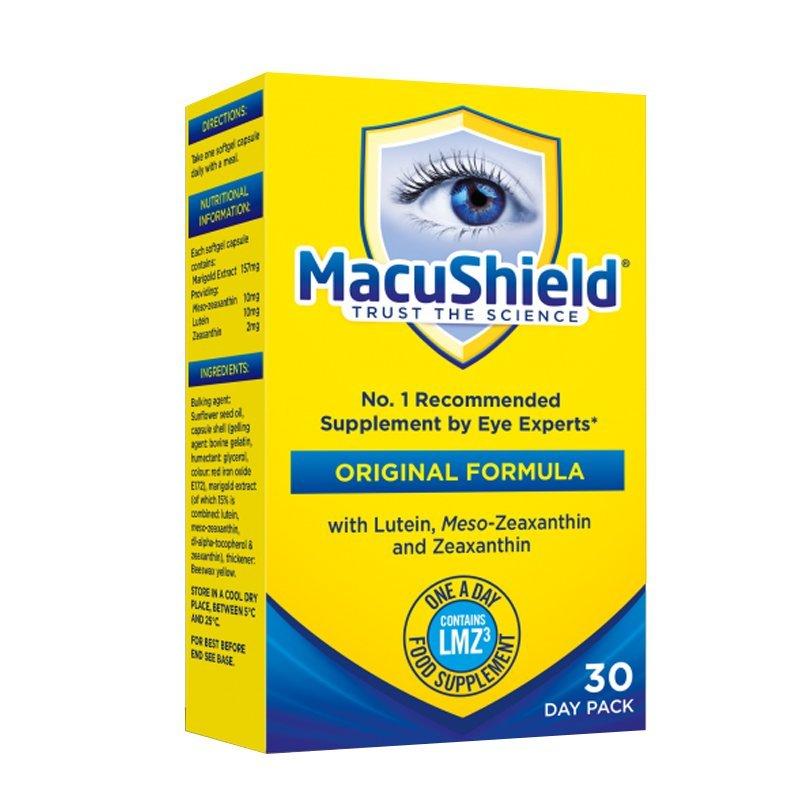 MacuShield pre unavené oči 30 kapsúl