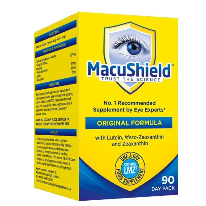 MacuShield pre zdravé oči 90 tabliet