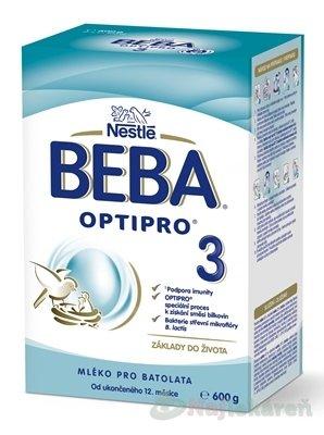 BEBA OPTIPRO 3 mliečna výživa 600g