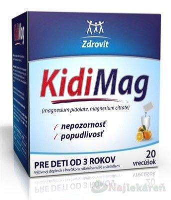 Zdrovit KidiMag, 20 ks - Naturprodukt Kidimag od 3 rokov 20 vrecúšok