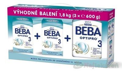 BEBA OPTIPRO 3 mliečna výživa 3x600g - BEBA OPTIPRO 2 3 x 600 g