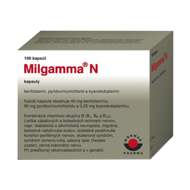Milgamma tbl.obd.100 x 50 mg/250µg - Milgamma N 40/90/0,25mg cps.mol.100
