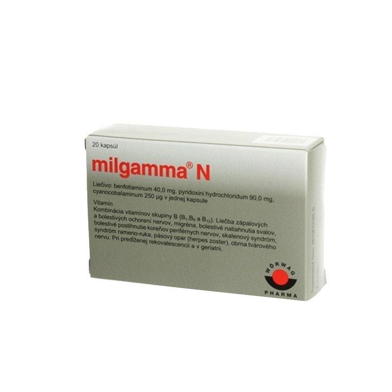 Milgamma N proti bolesti chrtba, 20 tbl