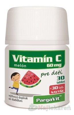 Pargavit vitamín C MELÓN DETI 60 tabliet